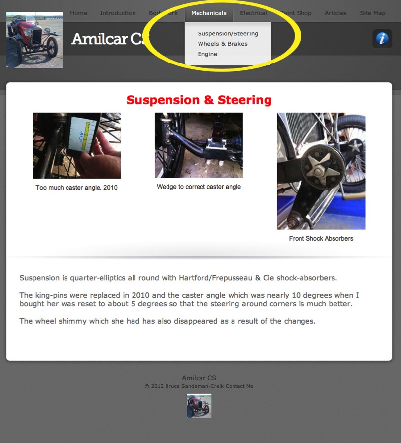 Car systems as a theme for your vintage car website